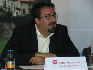 kandidat za župana Tadej Beočanin